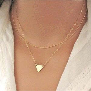Jewelry - Multi Layer Triangle Necklace
